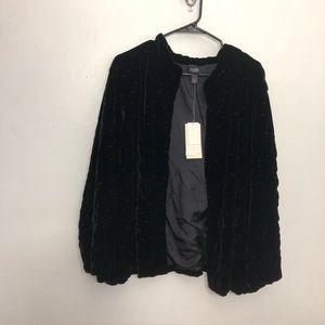 NWT 2x Eileen Fisher silk blend bartack jacket 2x